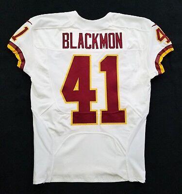41 Will Blackmon of Washington Redskins Nike Game Issued Player Worn Jersey 0ffa8cfda