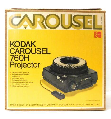 Kodak Carousel 760H 35mm Slide Projector w/ Remote - WORKING