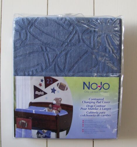 NOJO Play Ball Blue Contoured Changing Pad Cover