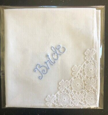 Something Blue Handkerchief for the Bride for sale  Blaine