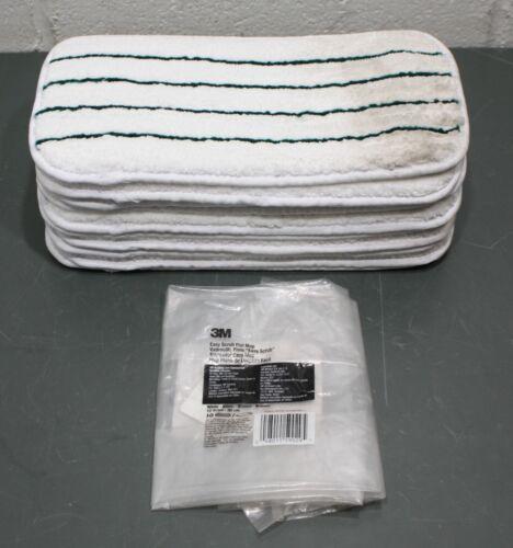 "(10) 3M Easy Scrub Flat Mop 59029, 12"" x 6"", Quick Change, Microfiber Pad, White"