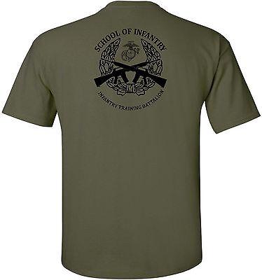 Usmc United States Marine Corps   School Of Infantry Camp Geiger  Nc T Shirt