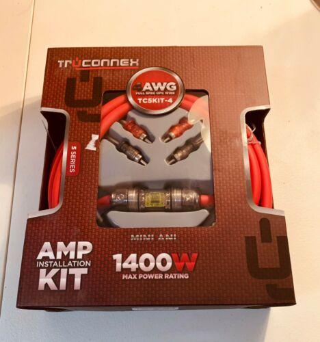 Truconnex 4-AWG OFC TC5KIT-4 Amplifier Installation Kit 1400W!