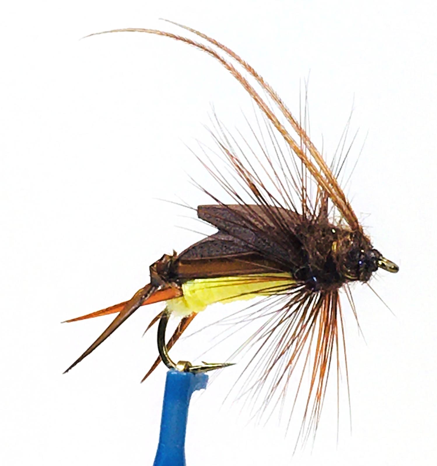 Size 6 Made in USA Crayfish 3 pk Weighted Crawfish Fly Pattern Orange