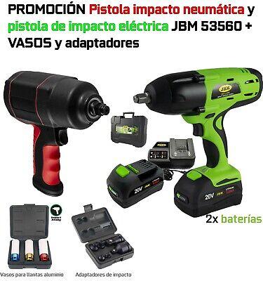 Pistola impacto neumática + Pistola impacto electrica + vasos impacto - JMK10022