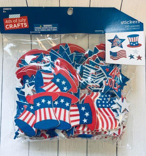 4th July Icons  Self Adhesive Foam Shape Stickers Teacher Supply Patriotic USA