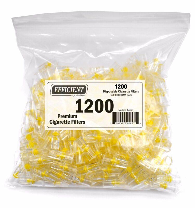 1200 EFFICIENT Disposable Bulk Cigarette Filter Tips, Block, Filter Out Tar, Nic