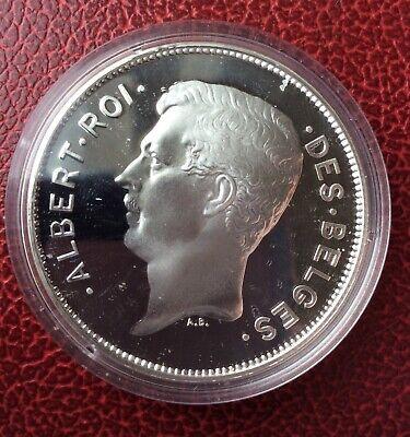 Belgique - Refrappe officielle Monnaie Royale - Rare 4 Belgas 1931 Fr   - Argent