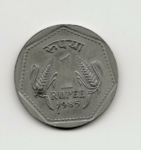 World Coins - India 1 Rupee 1985 Coin KM# 79 ; Lot-I3
