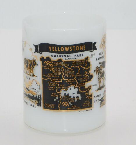Federal Glass Milk Glass Yellowstone National Park Coffee Mug