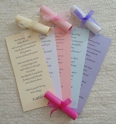 Baby Shower Thank You Scroll Cards - Favour - Personalised - Customised