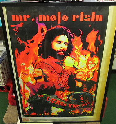 MR MOJO RISING POSTER COLLECTABLE NEW 2002 BLACK LITE DOORS MORRISON LIGHT