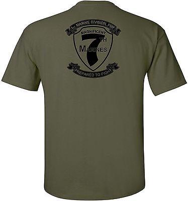 Usmc United States Marine Corps   7Th Marine Regiment T Shirt