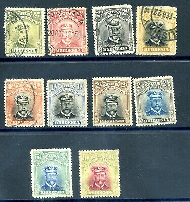 Rhodesia 1913-24 admirals used / unused no gum selection inc better vals