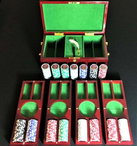 Las Vegas Poker Chips Official Tournament $100 $50 $25 $5 $1 375 New Chips +Case