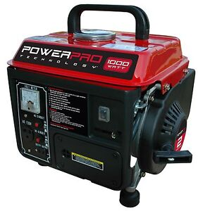 NEW 2 Stroke Portable Generator, 1000 Watt Power Compact Lightweight Low Noise