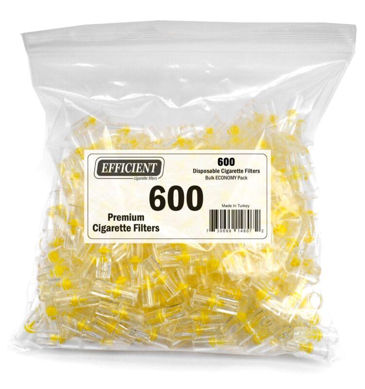 EFFICIENT Bulk Cigarette Filter Tips Block, Filter Out Tar & Nic (600 Filters)