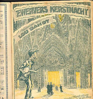 Antique PRIVATE BOUND 1920s VERSATILE THREE Art Deco CHRISTMAS Sheet Music Book