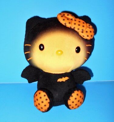 Black Orange Hello Kitty in Bat Costume TY Beanie Baby Plush Stuffed Toy 2014 6