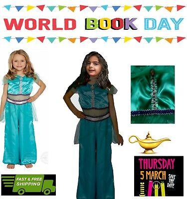 JASMINE COSTUME GIRLS ARABIAN PRINCESS FANCY DRESS FAIRY TALE CHILDS OUTFIT KIDS