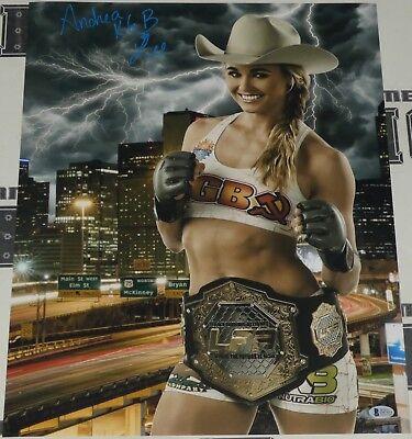 Andrea KGB Lee Signed 16x20 Photo BAS Beckett COA UFC LFA Invicta FC Autograph 5