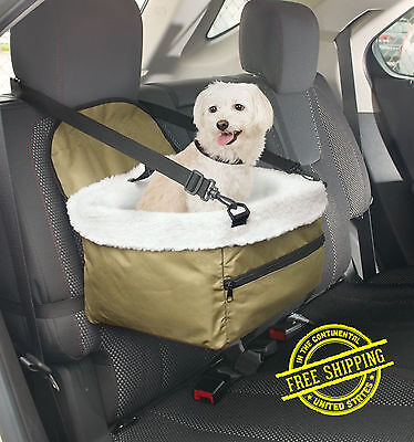 Car Seat For Dog Pet Cat Booster Blanket Chair Zippered Puppy Carrier Kitty Soft