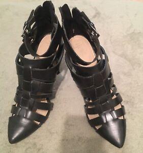 Stroppy black Zara heels