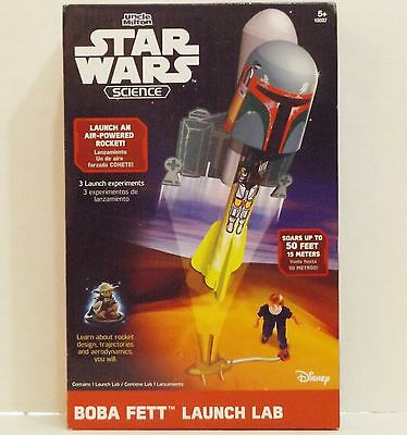 Star Wars Science Bobba Fett Air Powered Rocket Launch Lab {4234}