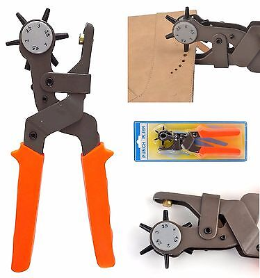 Hole Pliers Professional Punch Tool Heavy Duty Leather Hand Belt Holes Punches