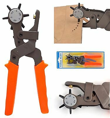Professional Punch Tool Heavy Duty Leather Hole Pliers Hand Belt Holes Punches