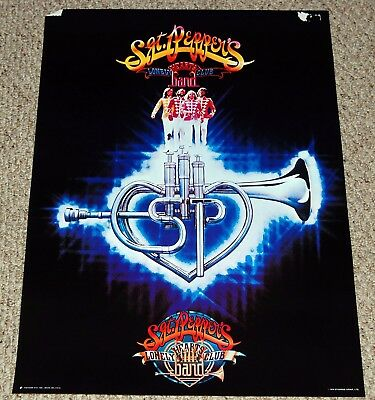 SGT. PEPPERS Movie Bee Gees Flugel Horn Logo Poster 1978 Stigwood Factors