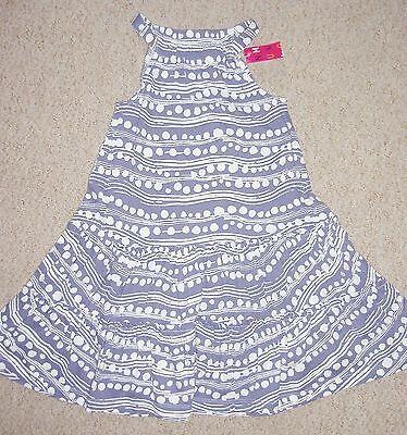 niña azul y blanco de topos Capas Vestido De Verano Edad 2 3 4 and 5 años NUEVO