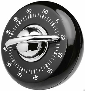 Judge Wind Up Mechanical 60 Minute Kitchen Cooking Classic Timer Black TC308