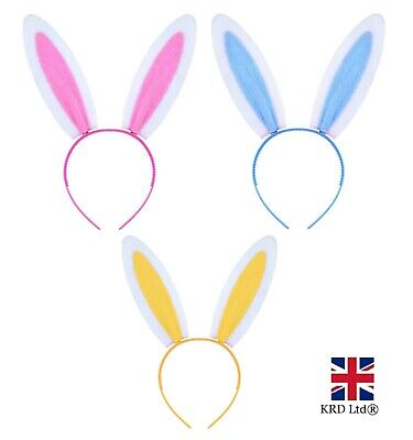 BUNNY EARS HEADBAND Fancy Dress Costume Hen Party Rabbit Easter Child Adult UK