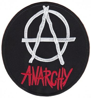 Rückenaufnäher Motiv A Anarchy 20 x 18 cm