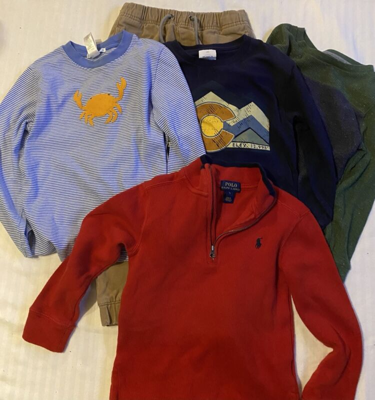 LOT Of 5- Boys Clothes -Size 5 - Jamie & Jack, Polo Ralph Lauren, DKNY, Old Navy