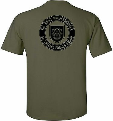 - United States Army - 5th Special Forces Group - The Quiet Professionals T-Shirt