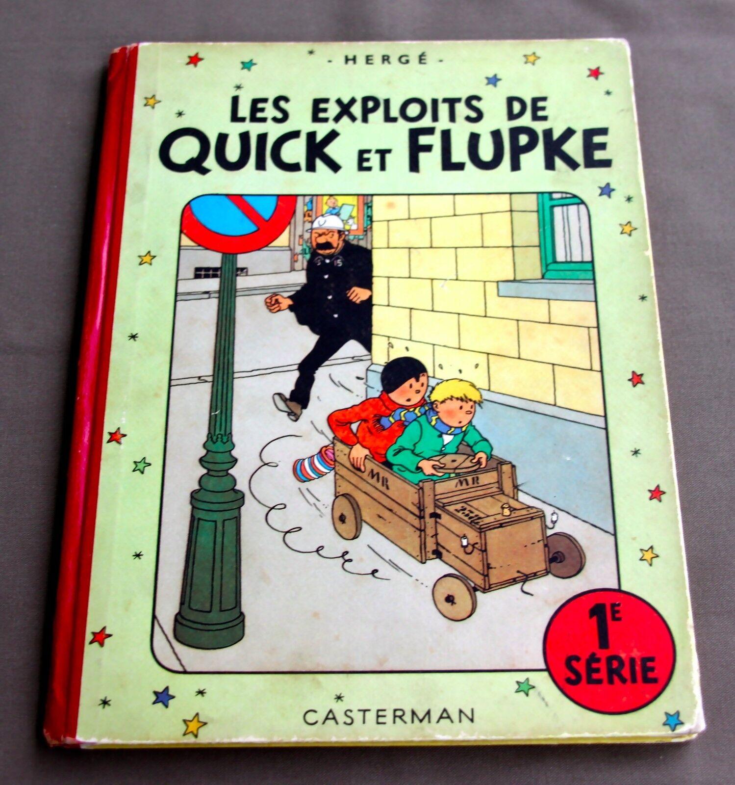 HERGE - LES EXPLOITS DE  QUICK ET  FLUPKE  1E SERIE - 1950 - B4