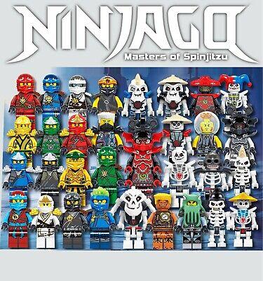 Ninjago Minifigures 32pcs Set ZX Skulkin Custom Lot - USA SELLER