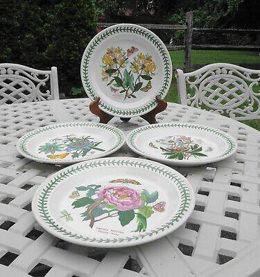 """(4) Portmeirion Botanic Garden 10 1/2"""" Dinner Plates"""