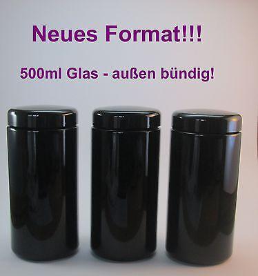 Miron Violettglas 3 x 500 ml Weithalsglas  (außen bündig)