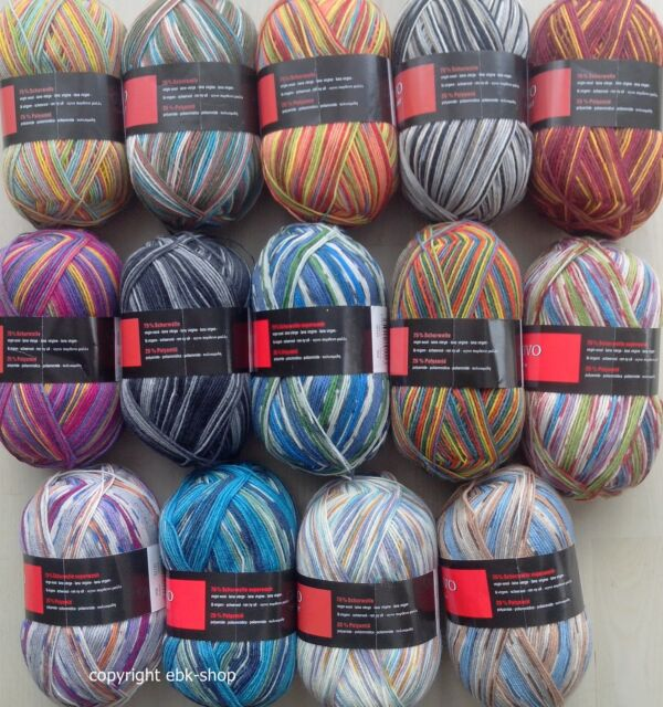 Überraschungspaket 1000g Sockenwolle, Wollpaket, Garnpakete-Sets, 100g/3,99€