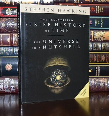 Illustrated Brief History Of Time Universe By Stephen Hawking New Hardcover Gift