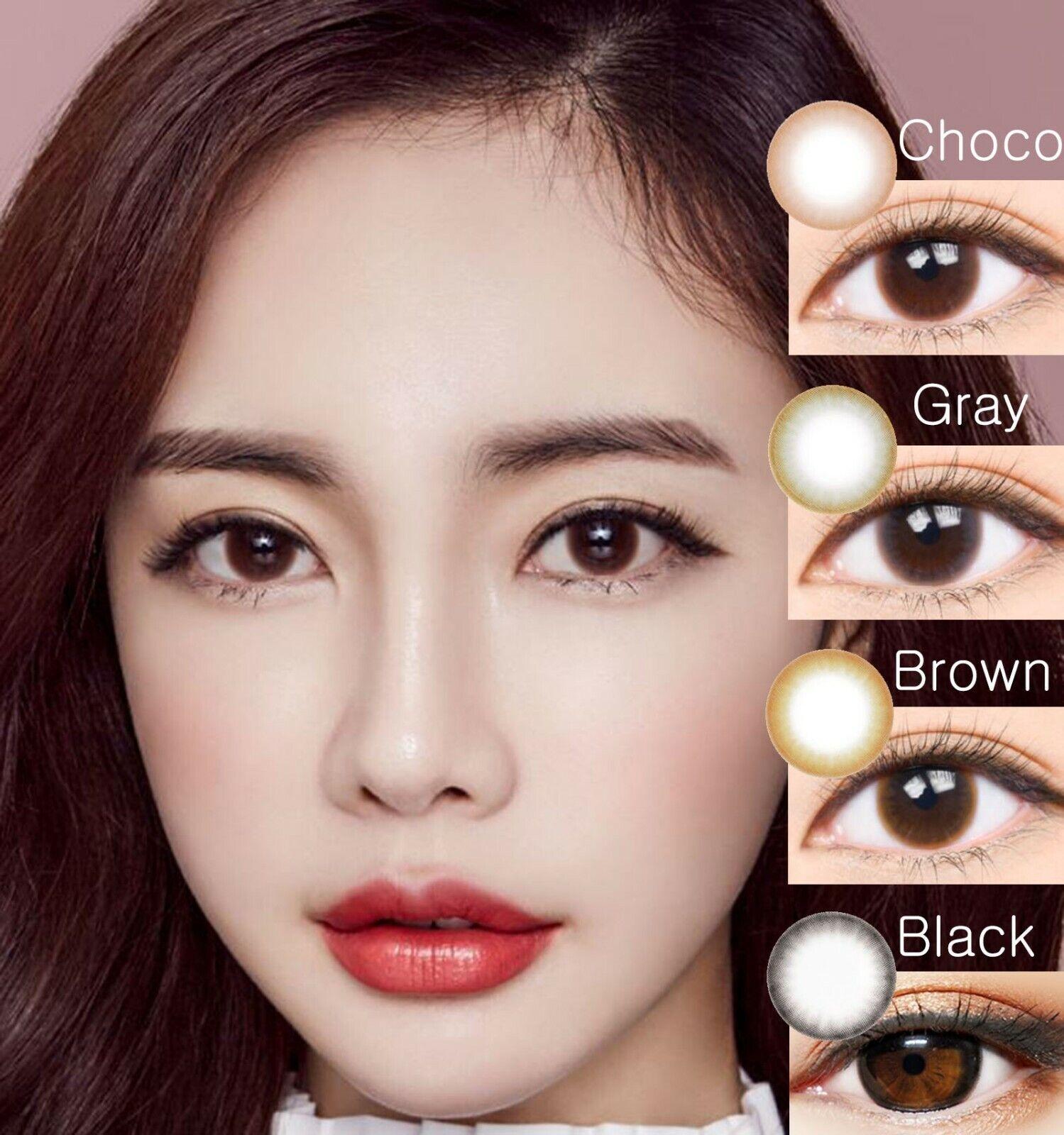 Mochi 2 Colored Black-Farbige Kontaktlinsen-Stärke-Korea Colored Contact Lenses