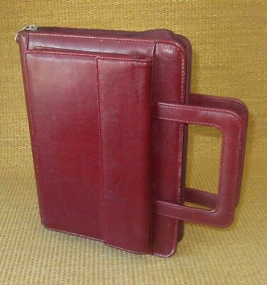 Classic 1 Rings Burgundy Sim. Leather Franklin Covey Plannerbinder Handles