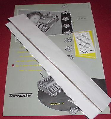 dachbodenfund prospekt faltblatt torpedo 18 schreibmaschine alt reklame 1954