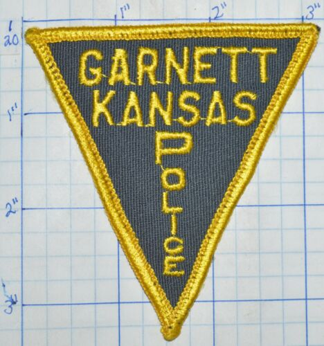 "KANSAS, GARNETT POLICE DEPT 3.25"" PATCH"