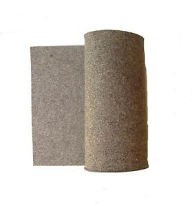 Grey 100% Wool Felt Hard F-3 Fabric 36