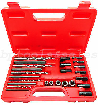 - 25pc Screw Extractor Easy Out Drill & Guide Set Broken Screws Bolts Remover NEW