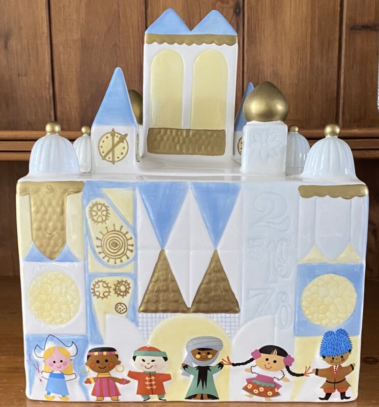 Disney Collectible It's A Small World Cookie Jar Ceramic Mint Condition Display